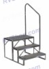 ECONO-PORCH 2 STEP ENTRY TOO LANDING FOLDING DURABLE STEEL (TOTAL HEIGHT 21