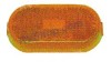 OVAL CLEARANCE LIGHT / REFLECTOR AMBER ACRYLIC BY PETERSON # V128A