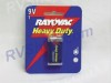 9 VOLT BATTERY HEAVY DUTY BY RAYOVAC # D1604-1
