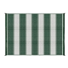 6' x 9' Outdoor Mat - Green Stripe