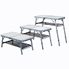 Aluminum Folding Table w/ Mesh Shelf