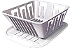 WHITE DISH DRAINER BY OP PRODUCTS # 77001