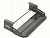 "20"" SINGLE TRAILER ENTRY STEP UNIVERSAL BLACK METAL"