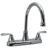 Two Handle Kitchen Hi-Arc Spout Brushed Nickel