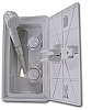 Exterior Shower Arctic White with Locking Door, ITC 97023-A-D