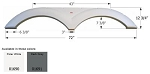 Icon Tandem Fender Skirt FS790 ABS Plastic Polar White 72