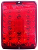 Bargman LED Tail Light, Single Red Stop-Tail-Turn, 86 Series