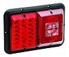 LED TAIL LIGHT HORIZONTAL DOUBLE RED 84 SERIES BARGMAN #  48-84-008 (WITH INCANDESCENT BACKUP)