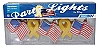 "PARTY LIGHTS  -  ""FLAGS AND RIBBONS"" 8 FOOT STRAND BY CAMCO # 42657"