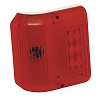 Series 86 Wrap Around Red Side Marker Light, Colonial White Base, Bargman 30-86-005