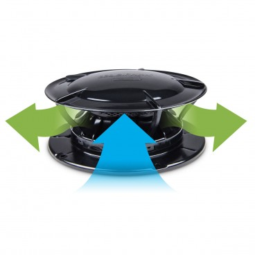 360 Siphon Odor Eliminator Roof Vent Black