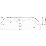 "2005 R- Vision Batam Fiberglass Fender Skirt 65"" x 5 1/4"" x 12"" (please allow 2 weeks before ready to ship)"