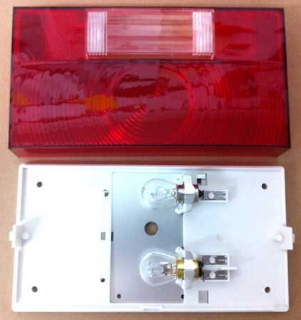 Power Stop Brakes >> Tail Light Red Lens with Backup and White Base (Reflect-O ...