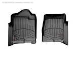 WeatherTech FloorLiner Front Black Mats for 2007 and Newer GMC Chevrolet Cadillac