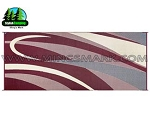 8' X 20' Burgundy and Black Camping Mat