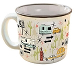 Camp Casuals Ceramic Mug, Wanderlust White