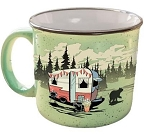 Camp Casuals Ceramic Mug, Beary Green