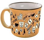 Camp Casuals Ceramic Mug, Tangerine Trip