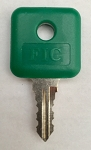 FIC Leo 1001-MK Master Key Dark Green Key, Only Available to RV Dealers and Locksmiths