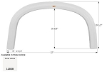 Icon Fender Skirt FS2038 Polar White 37