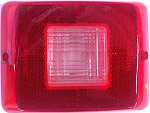 Red Tail Light Lens with Backup Horizontal 86 Series