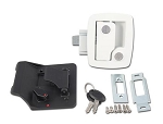 Bauer Travel Trailer Entry Door Lock, White