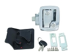 Bauer Travel Trailer Entry Door Lock, Chrome