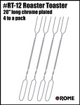 Campfire Roasting Fork - Set of 4