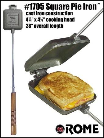 Pie Iron Square Sandwich Cooker