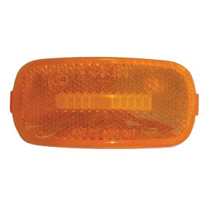 4x2 Marker Light Replacement Lens-Amber