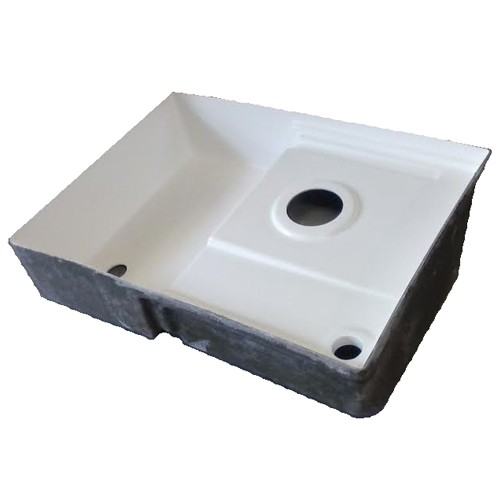 Transvan Rv Fiberglass Shower Pan Toilet Mount Tank Combo