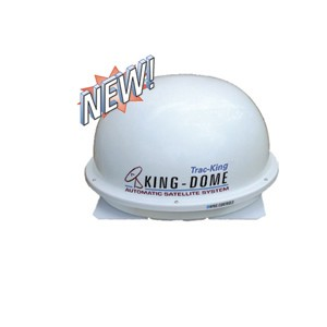 King Dome Automatic Roof Mount Satellite Antenna White