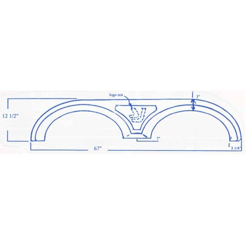 Yellowstone Gulfstream Fiberglass Fender Skirt 67