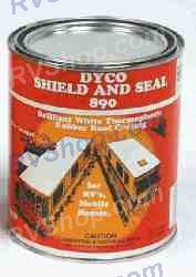 1qt Roof Coating White, DYC890/4