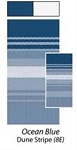 Awning Replacement Fabric for 16' Awning - Ocean Blue Dune Stripe