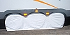 1 each TRIPLE AXLE TYRE GARD White
