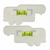 Set of 2 Fifth Wheel Shaped Bubble RV Level White, 28-0123