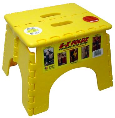 E-Z Foldz Step Stool Yellow, 101-6Y