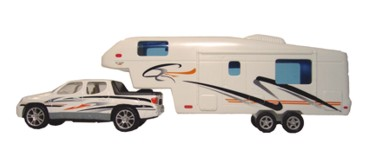 Die Cast Metal and Plastic Fifth Wheel and Truck Toy