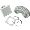Dryer Vent Installation Kit with Louvered Vent, VI422