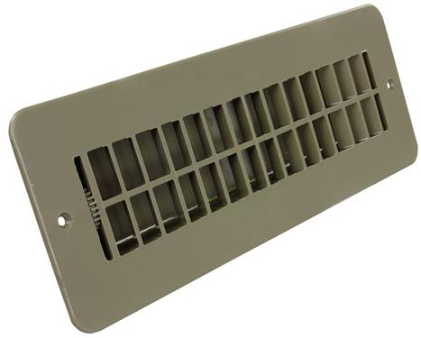Floor Heating / Cooling Register With Damper Tan, 288-86-AB-TN-A