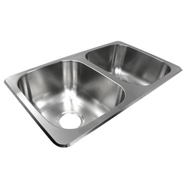 Double Bowl Stainless Steel Sink, 13TLSB25155