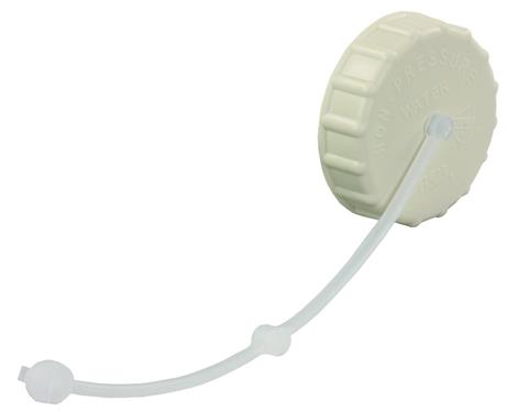 Fresh Water Inlet Cap Colonial White, 222CW-A