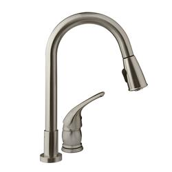 Pull Down Spout Kitchen Faucet Satin Nickel Finish, DF-NMK503-SN