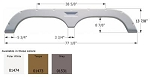 Icon Fleetwood Tandem  ABS Plastic Fender Skirt Grey FS720  77 1/8