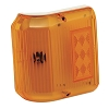 Series 86 Wrap Around Amber Side Marker Light, Colonial White Base, Bargman 30-86-006