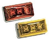 Bargman 99 Series Clearance/Side Marker Stud Mounted LED - Amber (47-99-402)