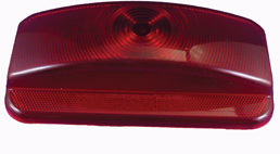 Command Surface Mount Tail Light Red Replacement Lens (Mfg. # 89-187)