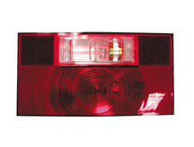 Stop-Turn-Tail Light Replacement Lens with Back-Up Light, Peterson V25912-25