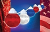 Party Globe String Lights Red White & Blue, 16-99-00705